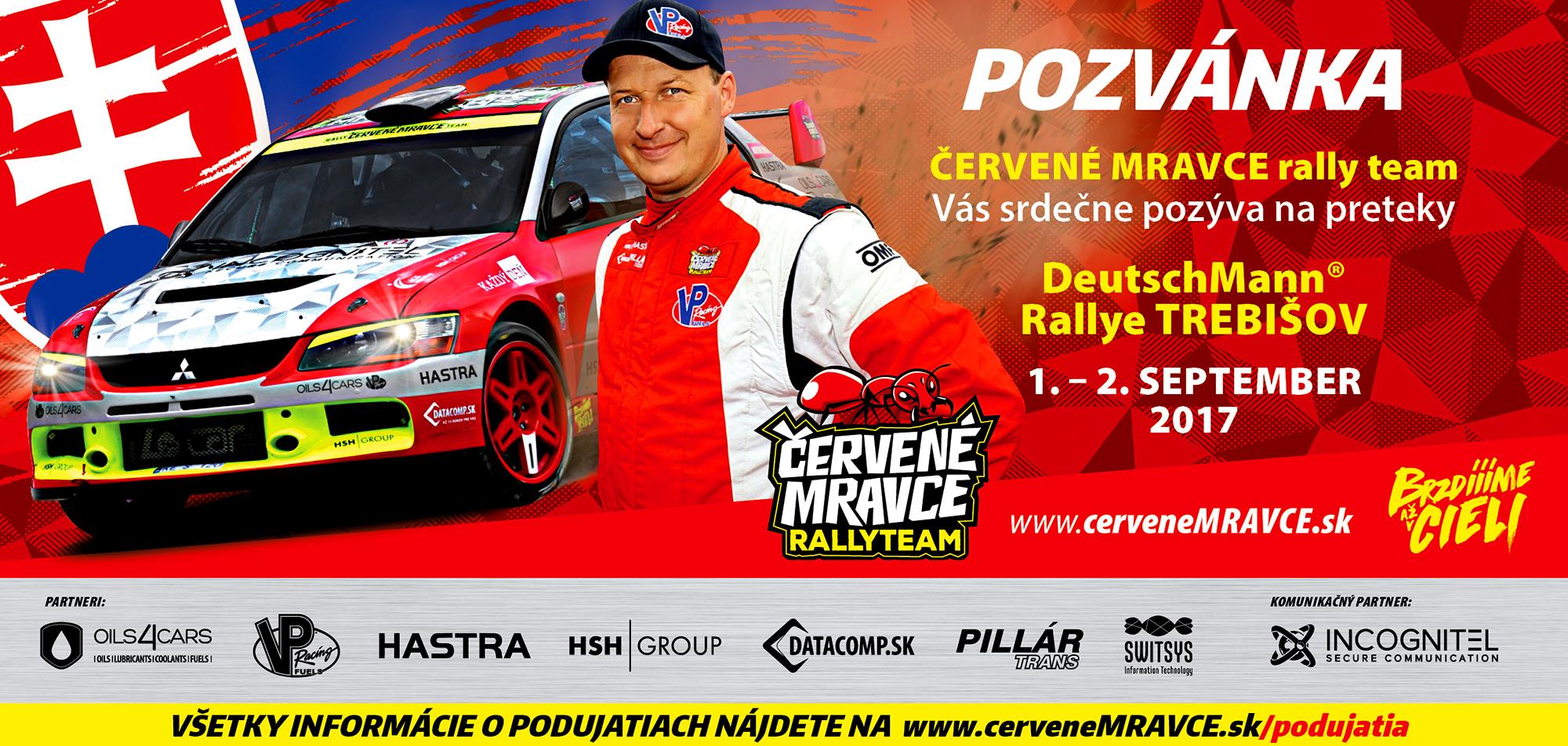 Pozvánka na DeutschMann® Rallye Trebišov